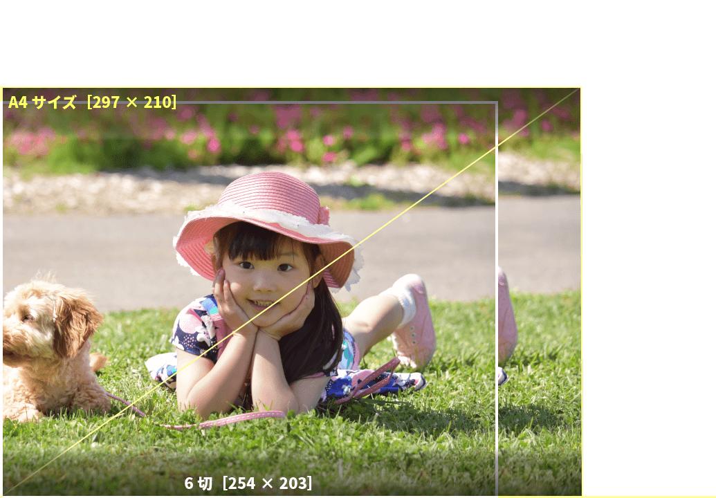 アプリプリントジャパンの6切サイズは、B5より少し多きサイズ